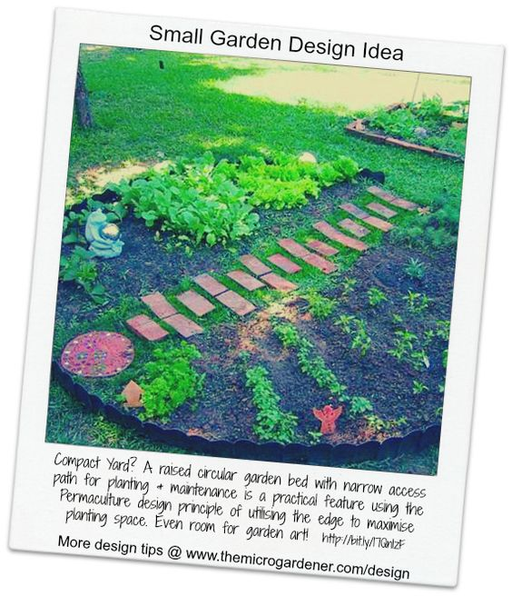 Small Garden Design Tip Curved Edges Increase Your