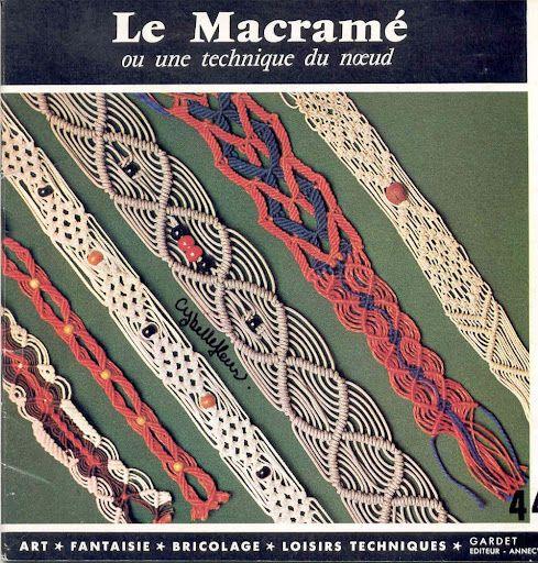 Le macram technique revistas y libros de macram pinterest macram - Technique de macrame ...