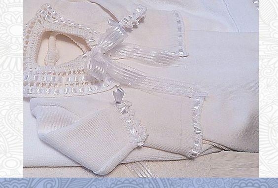 Saida de Maternidade Branca Crochetada