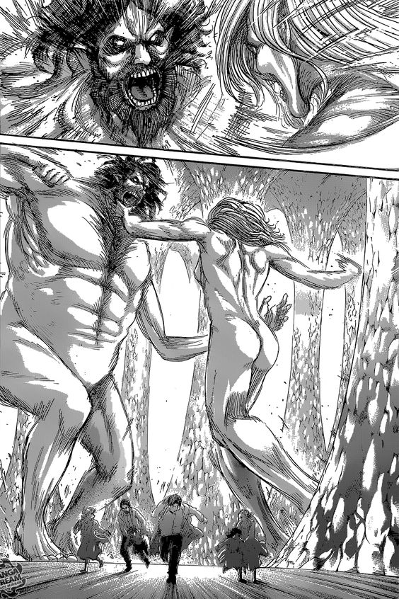 Grisha Jaeger vs Frieda Reiss<< damn he was one ugly titan