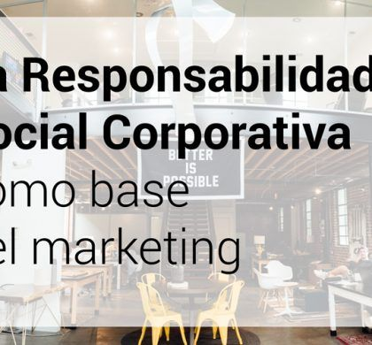 La Responsabilidad Social Corporativa como base del marketing