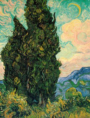 Cypresses  Artist: Vincent Van Gogh