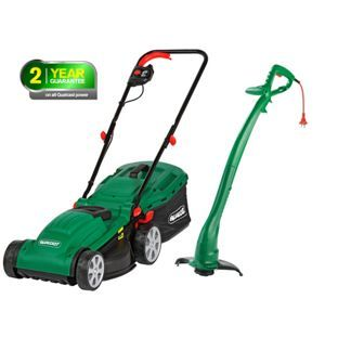 Buy Qualcast Corded Rotary 1300W Mower and 320W Grass Trimmer at Argos.co.uk - Your Online Shop for Lawnmowers and accessories.