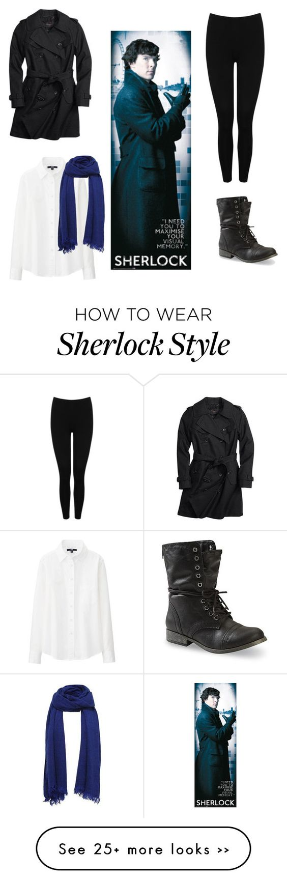 """""""Benedict Cumberbatch Sherlock cosplay"""" by the-girl-in-the-converse-shoes on Polyvore"""