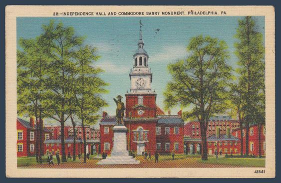 Postcards - United States #  871 - Independence Hall, Philadelphia, Pennsylvania