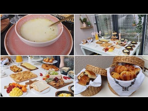 Brunch A La Marocaine فطور مغربي بلدي حسوة بالسميدة حرشة بالزيتون Youtube Marocaine Brunch Cuisine