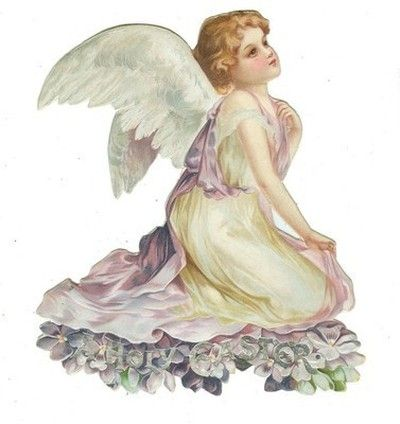 Rare Ellen CLAPSADDLE Stand Up Easter ANGEL Die Cut (03/30/2013):
