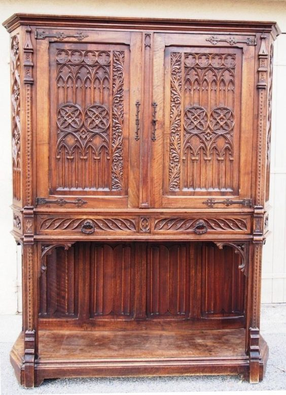 Antique for sale Dressoir Credence Gothic revival Dresser Sideboard  Credenza Storage furniture Furniture