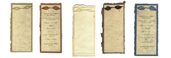 handmade paper invites...I've always wanted to try to make these from scratch. :o)