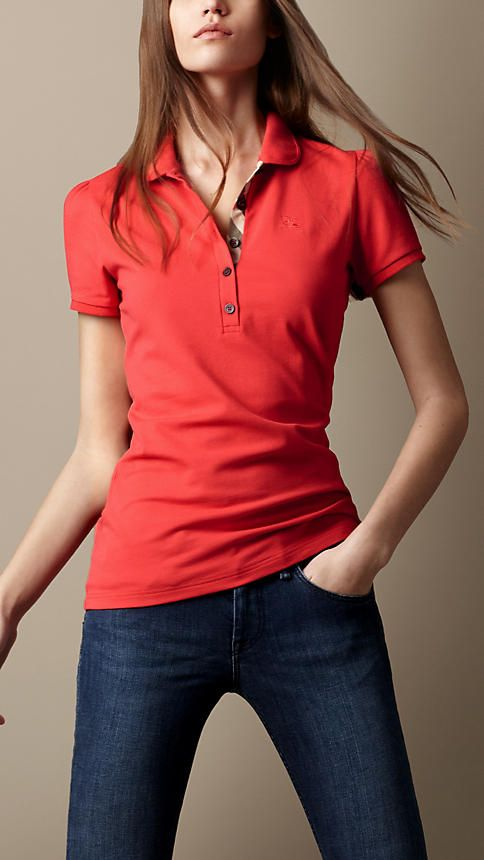 Check Placket Polo Shirt | Burberry