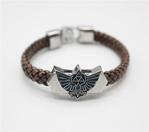 Bracelets - Top Quality The Legend Of Zelda Hand Leather Weave Brown Bracelet