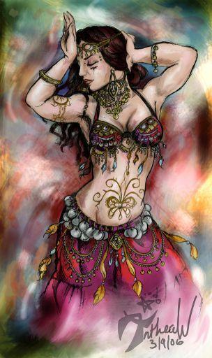 Arte de danza árabe