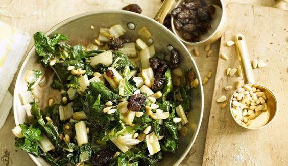 Recette de blettes aux pignons et aux raisins secs En savoir plus sur http://www.lexpress.fr/styles/saveurs/recette/recette-de-blettes-aux-pignons-et-aux-raisins-secs_1578137.html#AhgKA7EgZQDyyOP6.99