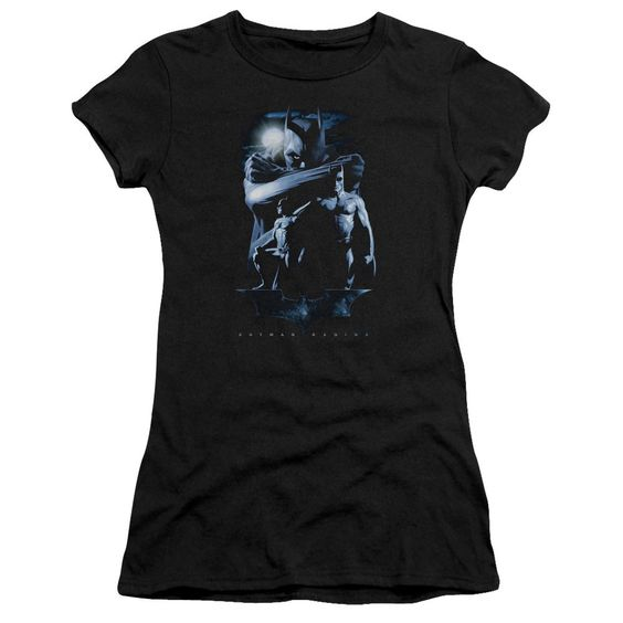 Batman Forlorn Future Black Womens Fine Jersey T-Shirt