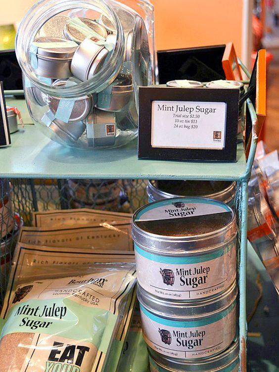 SB Finds April 2015:Mint Julep Sugar from Bourbon Barrel Foods. Trial size is $2.50, 10 oz. bag is $11, 20 oz. bag is $20.