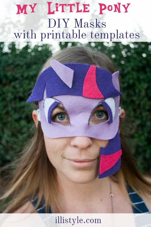 Diy My Little Pony Masks With Printable Templates Illistyle Induced Info