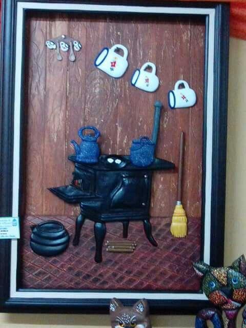 Cocina lena cuadros en relive pinterest - Como hacer una cocina de lena ...