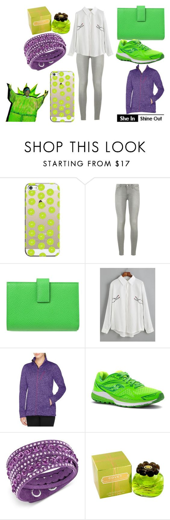 """Stay young, go dancing"" by sweetimperfection ❤ liked on Polyvore featuring Casetify, 7 For All Mankind, Smythson, Stonewear Designs, Saucony, Swarovski and Sarah Jessica Parker"