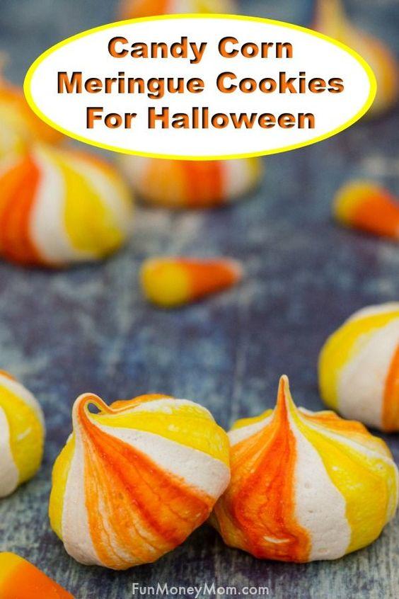 Candy Corn Inspired Halloween Cookies