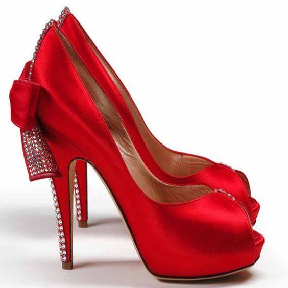 Sizzler Red Satin Embellished