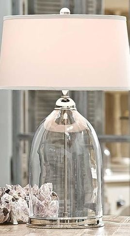 Glass ball table lamp and grey shade primroses glass and gray mozeypictures Choice Image