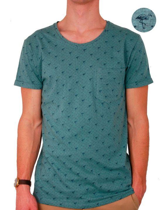 # T-shirt vert imprimé Madai http://www.letagehomme.com/t-shirt-vert-imprime-madai.html