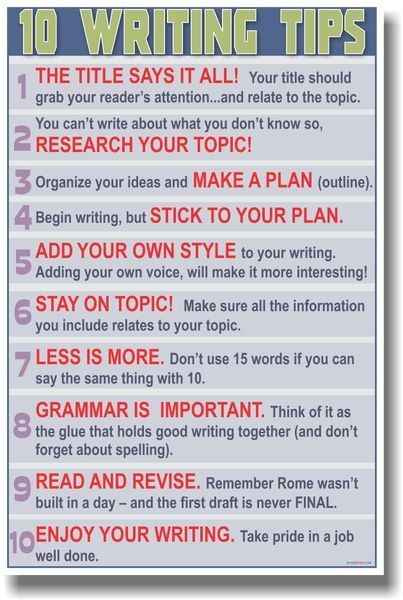 Basic Writing Tips