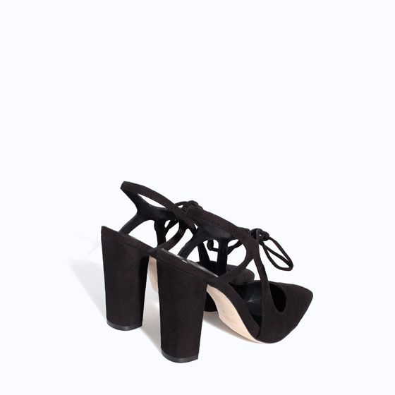 ZARA - WOMAN - HIGH HEEL LEATHER COURT SHOE WITH BOW