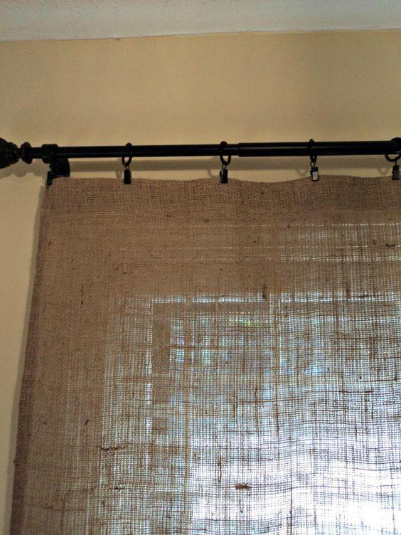 Burlap Curtain Panels French Farmhouse Coastal Chic Home Decor. $45.00, via Etsy.