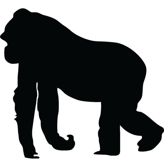 Animals wall decals - Silhouette gorilla Wall decal | Ambiance-sticker.com