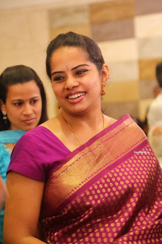 Beautiful Tamil Aunty At Composer Simon Wedding Reception
