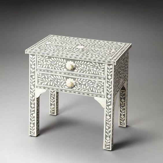 Butler Specialty 3215070 Vivienne Bone Inlay Heritage Side Table
