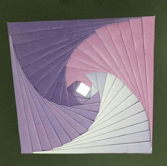 Iris folding lilás e roxo