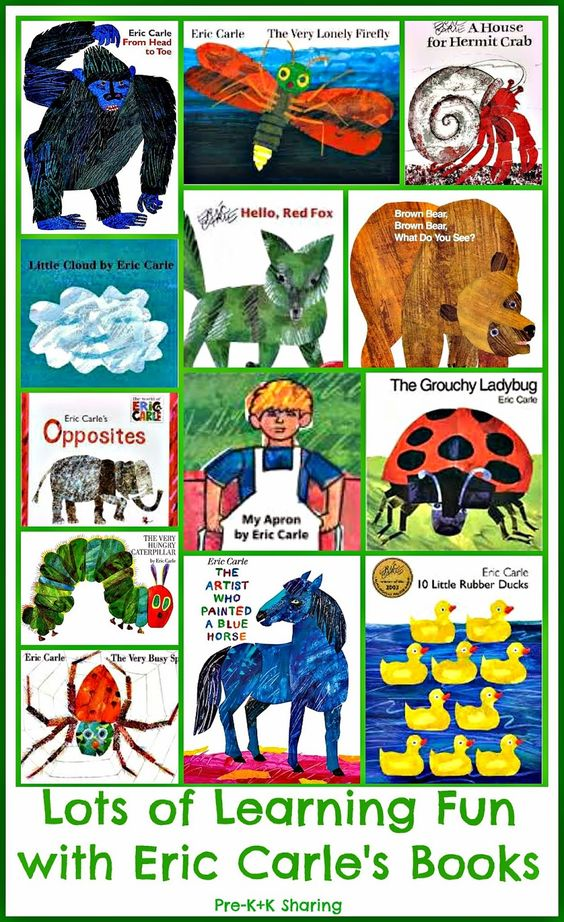 All about Eric Carle! Activities to go with 13 of Eric Carle's books
