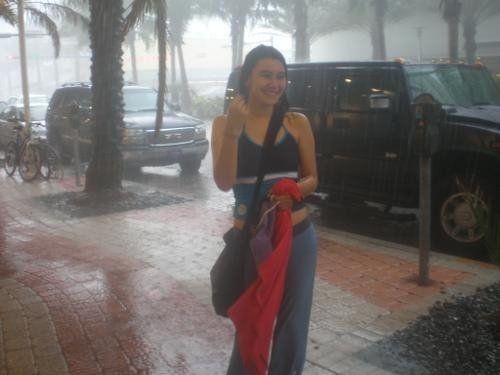 calor y lluvia