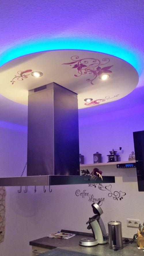 Indirekte Beleuchtung - Deckensegel Lisego Luna zaubert eine tolle - abgehängte decke küche