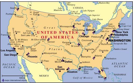 Usa Mapa Aeropuertos Buscar Con Google Mapa De Estados Unidos Viajes Y Turismo Aeropuertos