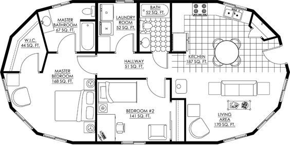 Round Homes Floor Plans: Deltec Homes- Floorplan Gallery