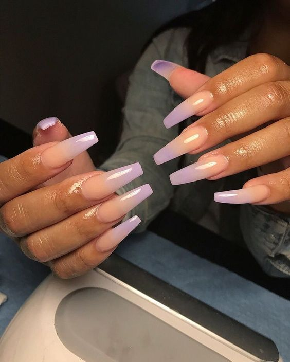 70 Attractive Acrylic Coffin Nails To Try This Fall Koees Blog Ombre Acrylic Nails Long Nails Pretty Acrylic Nails