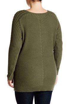 Adrienne Vittadini Long Sleeve Pullover Sweater
