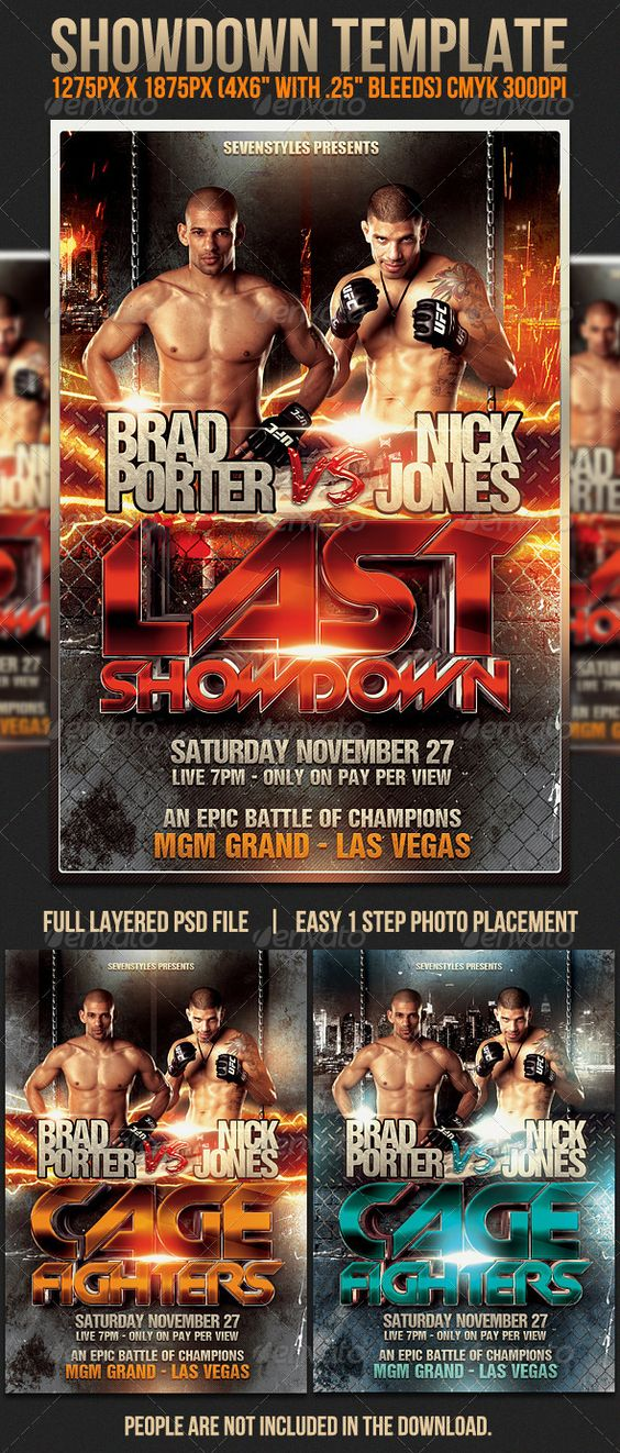 Graphics Creative and Flyer template – Showdown Flyer Template