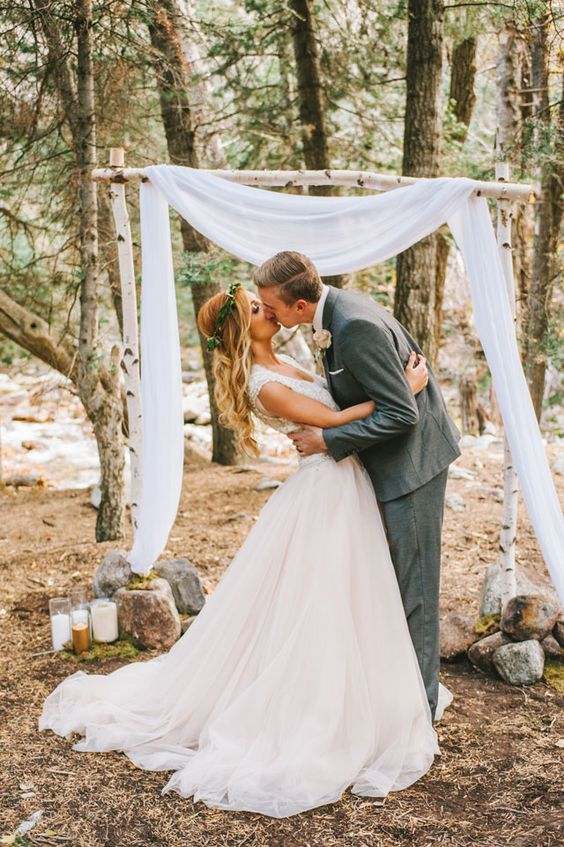 Vow renewals vows and in nature on pinterest for Dresses for renewal of wedding vows