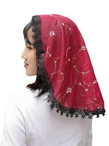 Lace Church Veil Headcovering For Women Burgundy Fanfan Https Www Amazon Com Dp B081rnks31 Ref Cm Sw R Pi Dp U X Grshebh410m1a In 2020 Women Fashion Church Veil