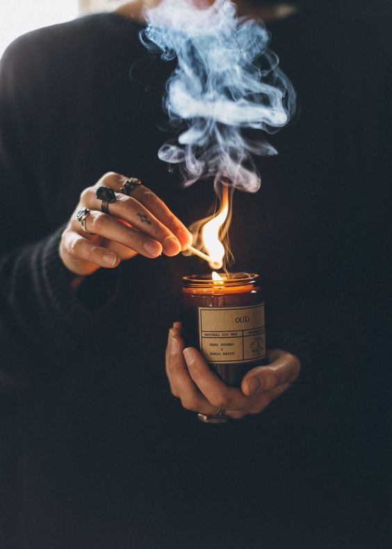 There is something in the mystic and magic of candle smoke....