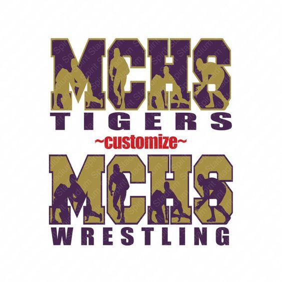 Wrestling shirt team school mascot custom spirit by for High school wrestling t shirt designs