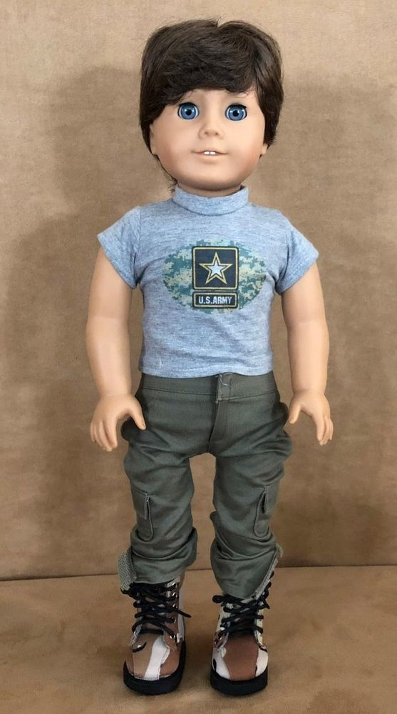 Boy Custom American Girl Doll Clothing Brother Ooak Brown Hair