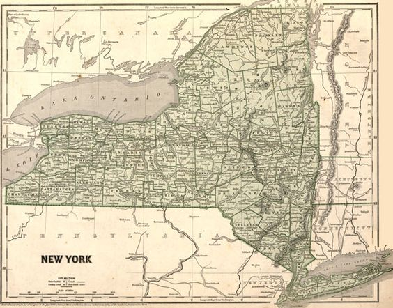 New York State 1842 by Morse and Breese Historic Map. A wide and growing selection of inexpensive reprints of rare Historic Maps are available from Hearthstone Legacy Publications at: http://www.hearthstonelegacy.com/Historic-Map-Reprints.htm