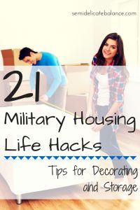 Some great tips here for living in Military Housing!