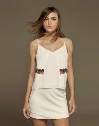 Blusa Recortes Cintura Jurerê Branco - Lez a Lez