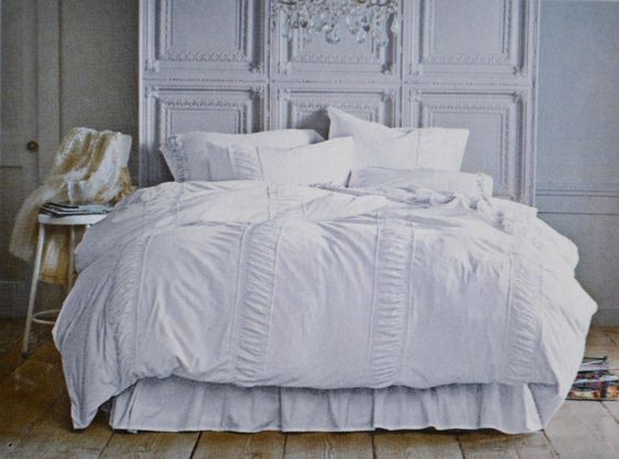 Rachel Ashwell Simply Shabby Chic King Duvet Set White T-Shirt Ruched Jersey NEW in Home & Garden, Bedding, Duvet Covers & Sets | eBay